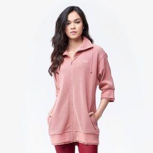 NWT Adidas Tubular Track Zip Up Raw Pink